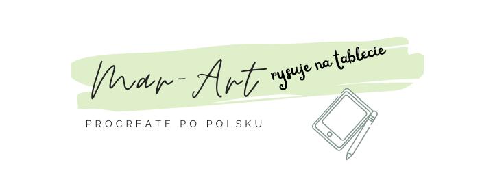 Procreate po polsku rysuje na tablecie Mar Art
