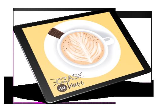 kawa latte procreate rysuje na tablecie