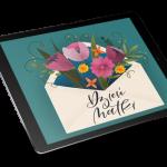 kwiaty procreate rysuje na tablecie
